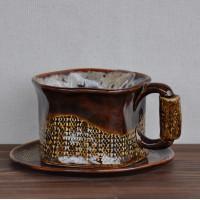Чашка средняя с блюдцем Кофейная серия