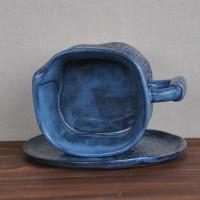 Чашка малая с блюдцем Джинсовая серия