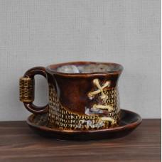 Чашка малая с блюдцем Кофейная серия