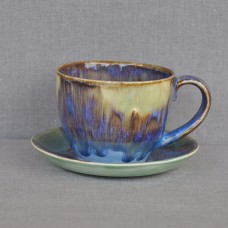 Чашка керамическая с блюдцем 011004A