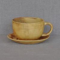 Чашка керамическая с блюдцем 011529A