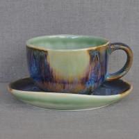 Чашка керамическая с блюдцем 011541A