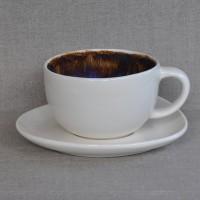 Чашка керамическая с блюдцем 011542A
