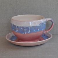 Чашка керамическая с блюдцем 012238A
